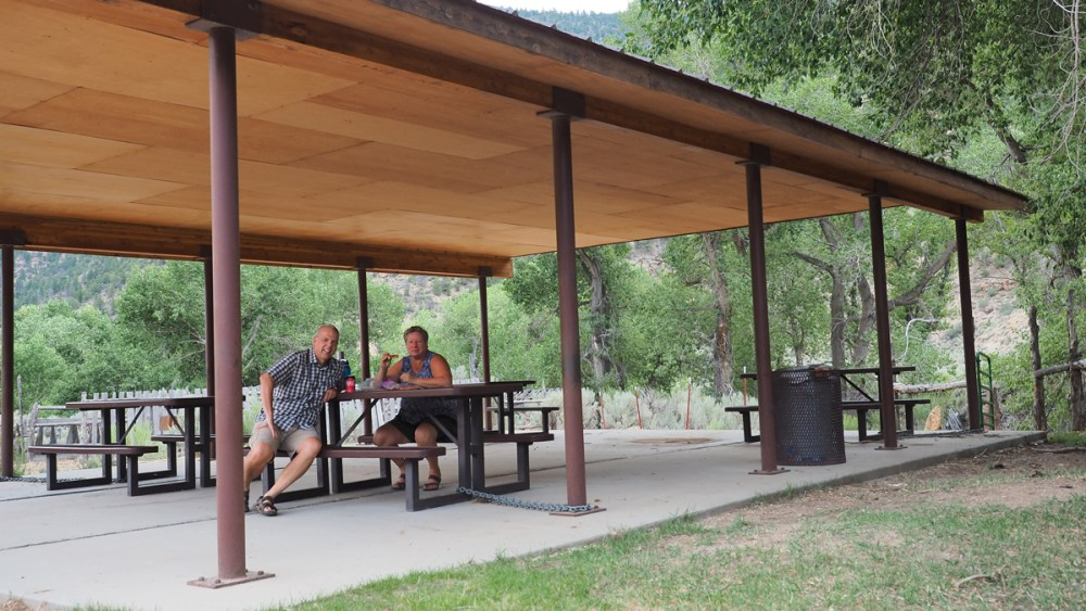 Picknick bei der Christensen Ranch im Nine Mile Canyon