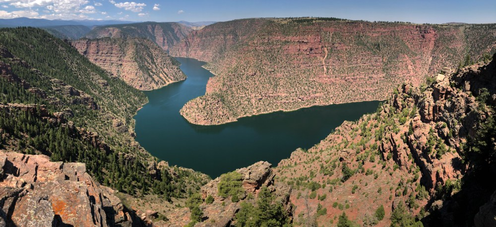 Aussicht vom Red Canyon Viewpoint in der Flaming Gorge NRA