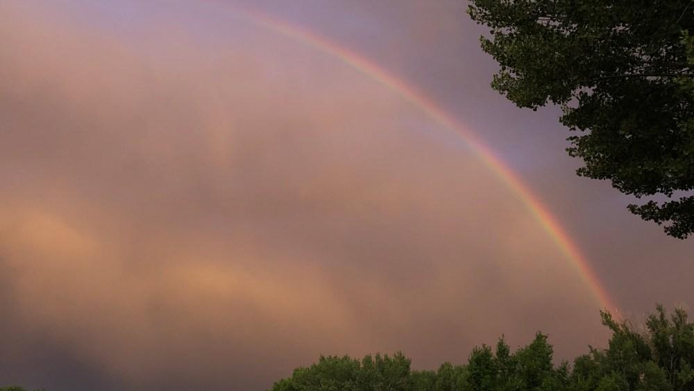 Regenbogen über Moab
