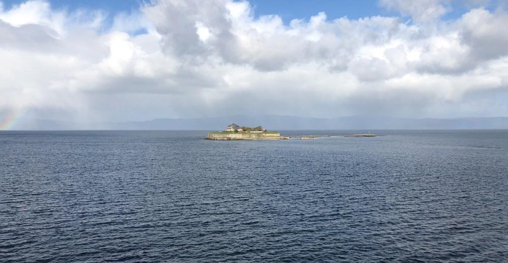 Die Insel Munkholmen im Trondheimsfjord