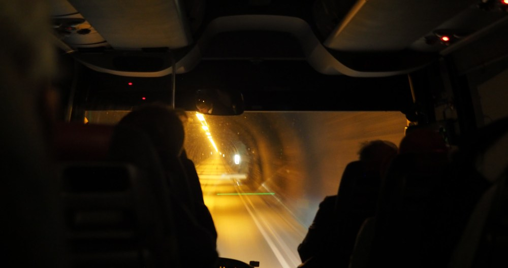 Unterwegs im Nordkapp Tunnel
