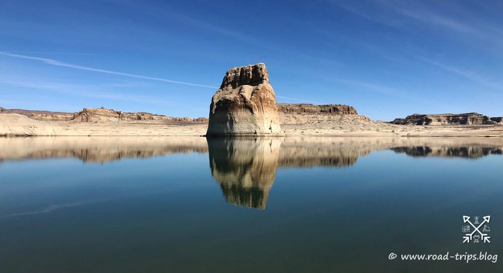 Der Lone Rock überwacht die Wahweap Bay