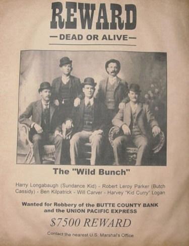 Steckbrief The Wild Bunch von Butch Cassidy