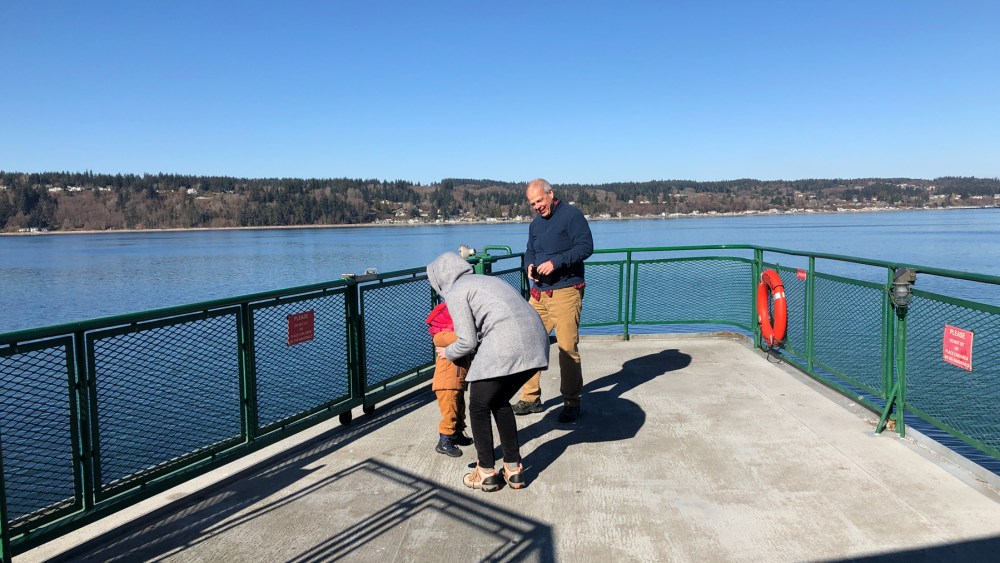 Ferry to Clinton on Whidbey Island
