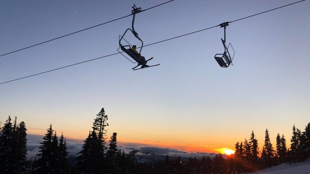Sonnenuntergang am Mount Hood