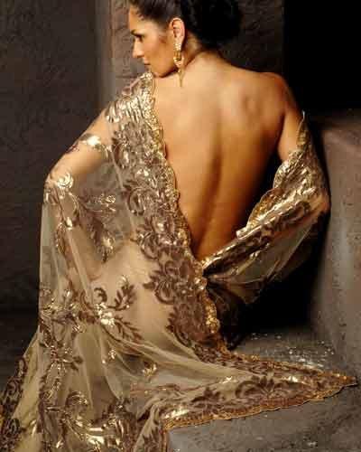 Sari at wedding show
