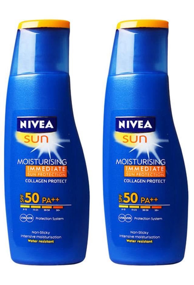 nivea sun moisturising sunscreen lotion spf 50