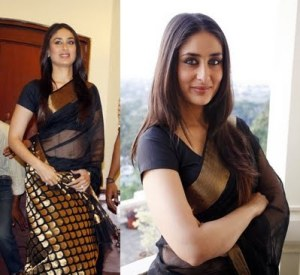 Kareena-Kapoor-in-black-saree