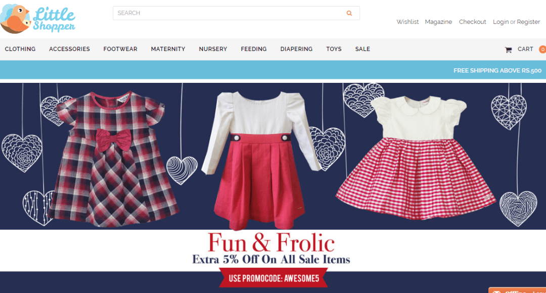 The Little Shopper Online Shopping Website Review