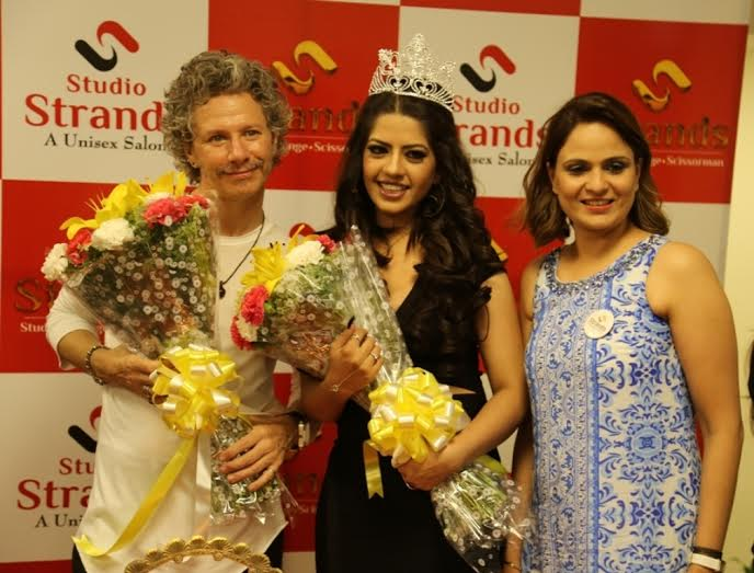 Ms. Rammya Singh Miss Globe India representative at Strans salon new outlet launch in Delhi