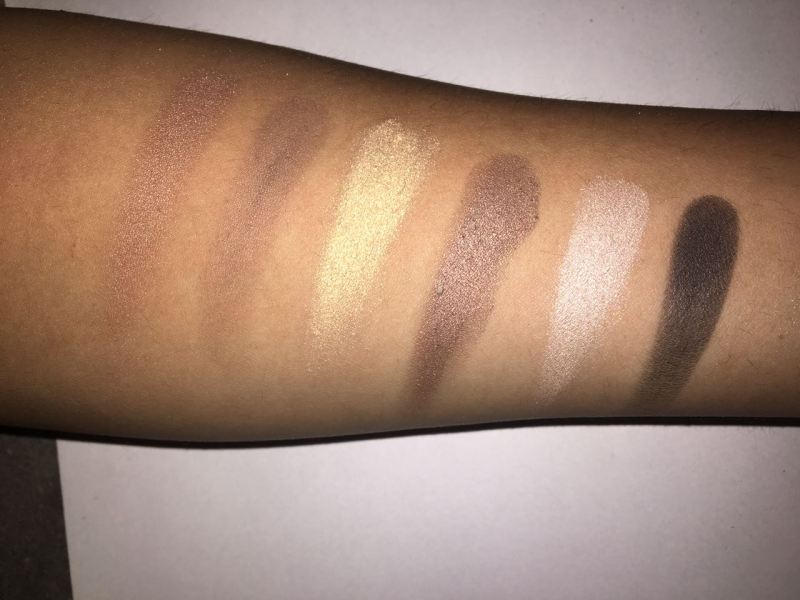 Maybelline The Nudes Eye Shadow Palette Swatches