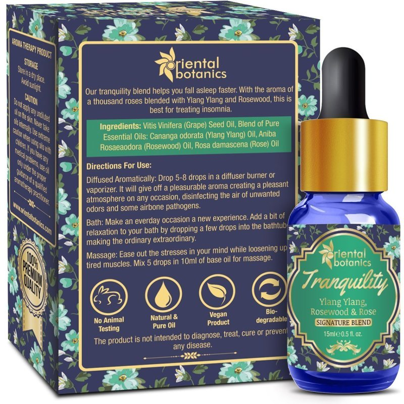Oriental Botanics Tranquility Aroma Therapy Diffuser Oil