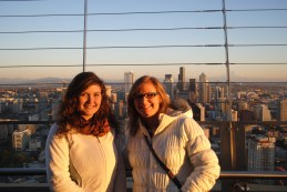 My mom and I on the Space Needle deck