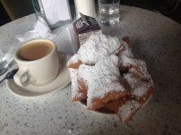 cafe au lait and beignets at Cafe du Monde in New Orleans
