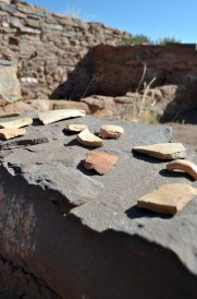 Shards of pottery from 800 years ago