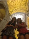 This mirror provided an awesome photo opp with the beautifully intricate ceilings.
