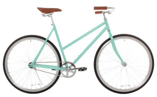 Vilano Womens Classic Urban Commuter Single Speed Bike Fixie Style City Mint Pearl Road Bicycle Review