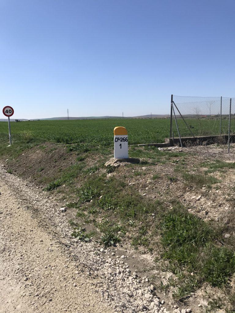 Señalización camino rural El Carpio.