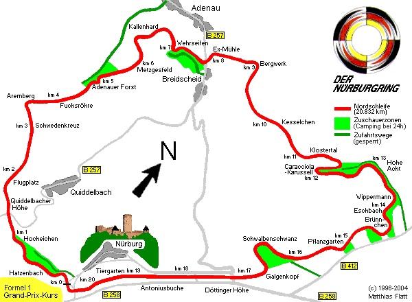 Nurburgring Track Map