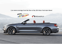 Live Coverage from the 2014 New York Auto Show - BMW M4 Cabriolet