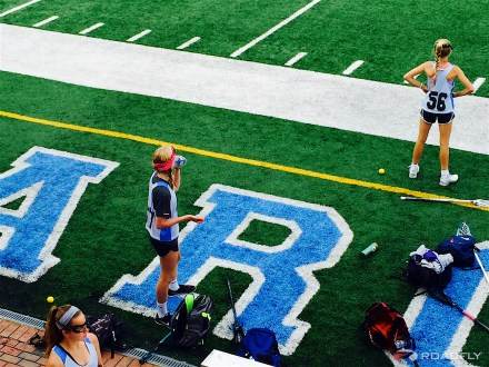Ava Romero Playing Lacrosse at UNC Camp