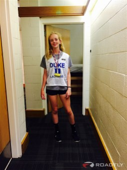 Ava Romero Playing Lacrosse at Duke University Camp