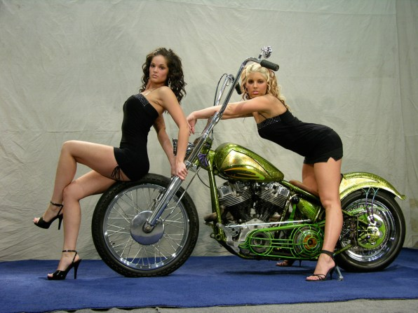 '58 Pan-Shovel Chopper and Girls