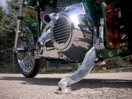 Sod-Amore Custom Shovelhead Chopper by Dozer Cycle, Hog-Leg kickstand by Holter Design