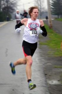 Matt breaks for the finish.