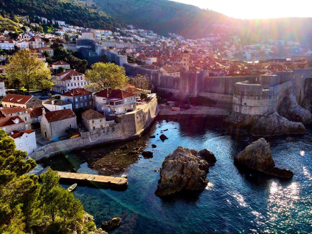Sunrise View over Dubrovnik, Croatia