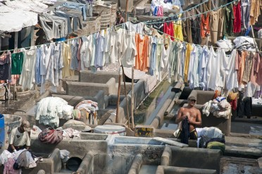 The world's biggest laundy. Dhobi Ghat, Mumbai India,