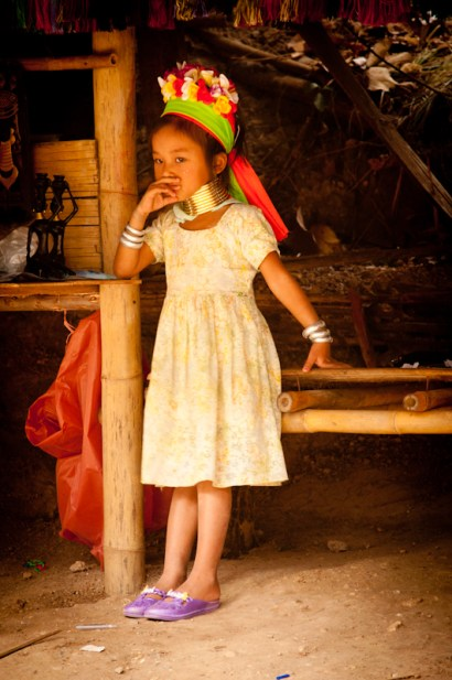 A young girl ponders her future in a hill tribe in Chiang Mai, Thailand.