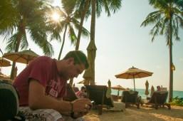 Taking down blog ideas. Khao Lak Beach, Thailand