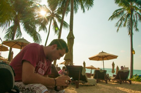 Taking down blog ideas. Khao Lak Beach, Thailand