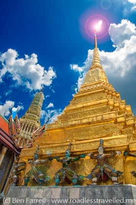 A gold leafed temple at the Grand Palace, Bangkok, Thailand