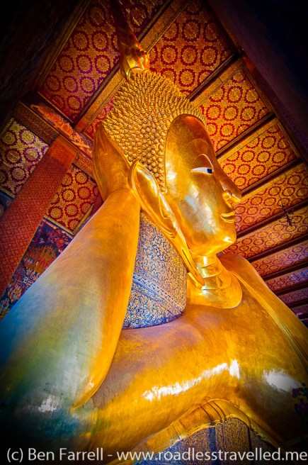 The 'Reclining Buddha' at Wat Pho, Bangkok