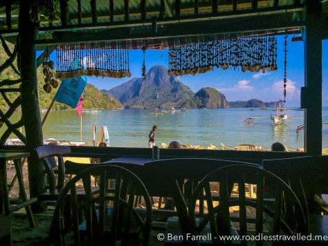 One of the beach-side bars in the light of day. Snapped during breakfast!