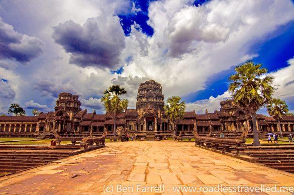 The entrance to Angkor Wat, Cambodia