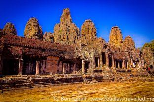 An ancient temple at Angkor Wat, Cambodia.