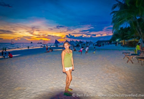 Boracay Beach at Sunset