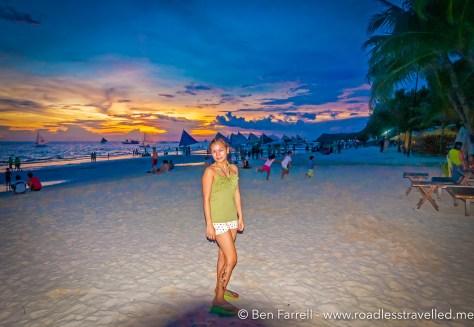 Boracay Beach at Sunset