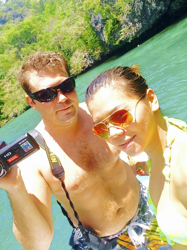 At the 'Secret Lagoon' Palawan.