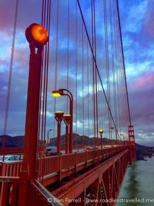Golden Gate Bridge at dusk in San Francisco, USA.