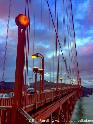 Golden Gate Bridge at dusk in San Francisco, USA.