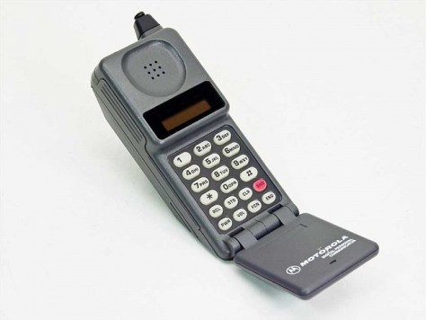 Our family's first mobile phone. Certainly not 'smart' or small!