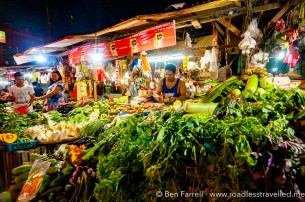 Fresh vegetables in Manila, Philippines
