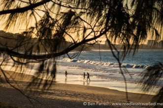 A dusk walk on Mooloolaba Beach, Australia