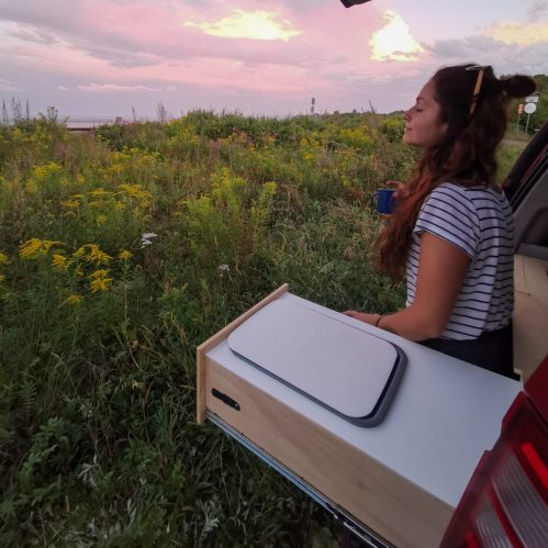Enjoying the connexion to nature with the vanlife
