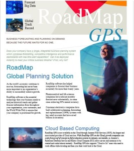 RoadMap GPS can switch from weekly to monthly mode at the touch of a button.