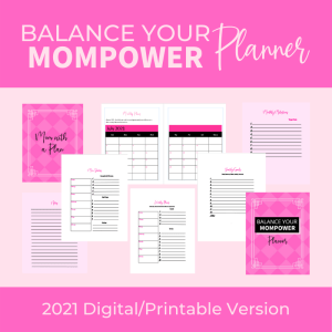product image for the balance your mompower digital/printable planner